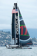 Oracle Team USA test their AC72 in San Francisco bay. 12/10/2012