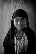 Girl at the Dargha shrine in Nagore. South India. near Nagapattinam.