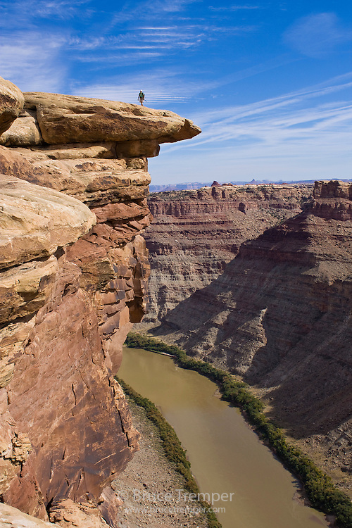 Susi hauser exploring a remort area along the Green River in Canyonlands National Park, Utah