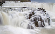 Gullfoss (English: Golden Falls) is a waterfall located in the canyon of Hvítá river in southwest Iceland