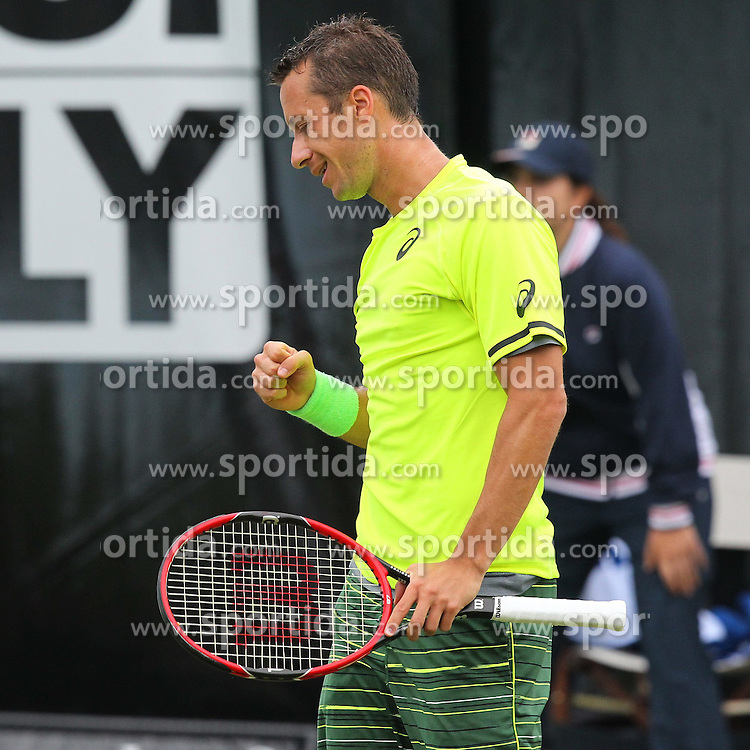 08.06.2015, Tennis Club Weissenhof, Stuttgart, GER, ATP Tour, Mercedes Cup Stuttgart, im Bild Philipp Kohlschreiber ( GER ) ballt die Faust // during the Mercedes Cup of ATP world Tour at the Tennis Club Weissenhof in Stuttgart, Germany on 2015/06/08. EXPA Pictures &copy; 2015, PhotoCredit: EXPA/ Eibner-Pressefoto/ Langer<br /> <br /> *****ATTENTION - OUT of GER*****
