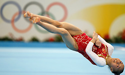 China's yang Yilin competes on the floor for artistic gymnastics women's individual all-around finals during the Olympic games in Beijing, China, 14 August 2008. USA's Nastia Liukin won the gold medal for the event with compatriot Shawn Johnson and China's Yang Yilin taking silver and bronze respectively.