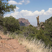 The Boot, a rock formation that looks like an upside down cowboy boot, on the trail to Boot Springs, Big Bend National Park, Texas.