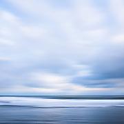 Abstract Seascape of Winter Storm Stella kicking up surf in Narragansett, Rhode Island