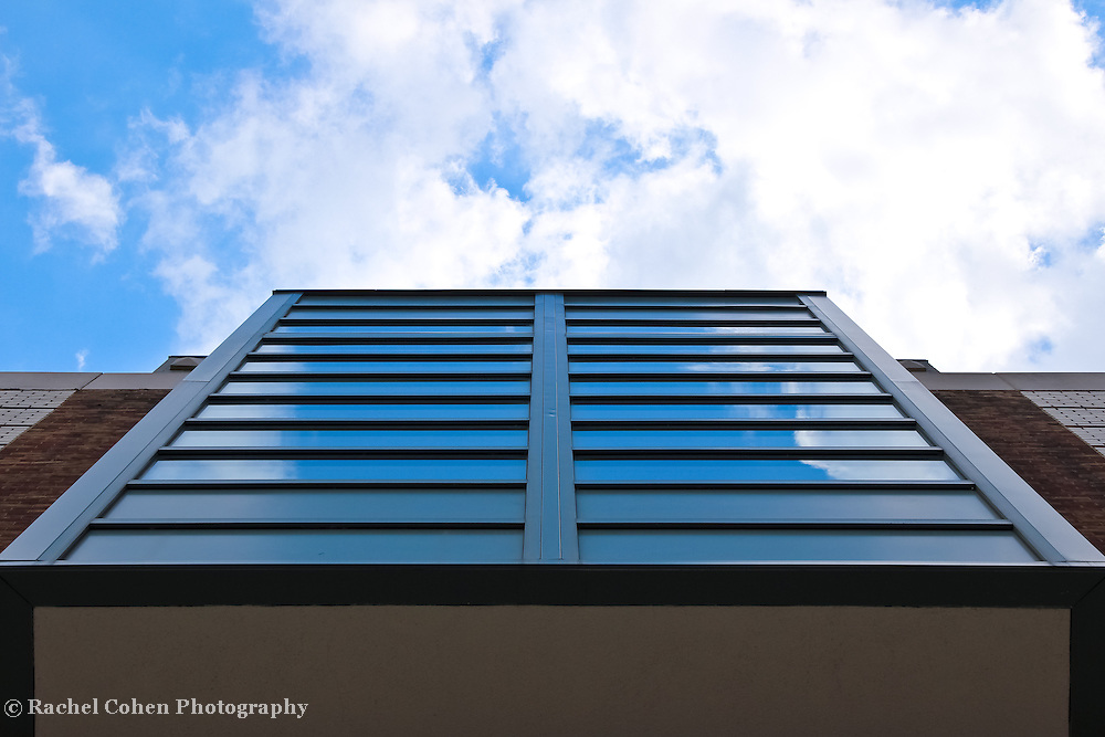 &quot;Visions of Up&quot;<br /> <br /> Reflections and sky looking up at the library building at EMU!!<br /> <br /> Architecture: structures and buildings by Rachel Cohen