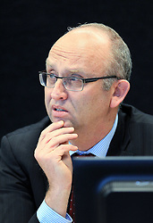"Dr Clark Hyland giving evidence at the Royal Earthquake Commission inquiry into the collapse of the CTV building, Christchurch, New Zealand, Monday, July 09, 2012. Credit:SNPA / The Press, Kirk Hargreaves  ""POOL"""""
