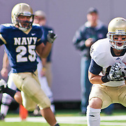 Norte Dame Junior Wide Receiver (#81) John Goodman during game action at The New Giant's Stadium as Navy defeats Notre Dame 35-17 at The New Giant's Stadium in East Rutherford New Jersey