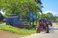 Tractors in Bartolome Maso, Granma, Cuba.