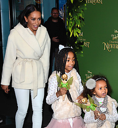 Melanie Brown, Angel and Maddison attend Tinkerbell and the Legend of the Neverbeast Gala Screening at Vue West End, Leicester Square  London on Sunday 7th December 2014