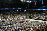 Gonzaga undergraduate commencement at Spokane Arena in Spokane, Wash. (Photo by Rajah Bose)