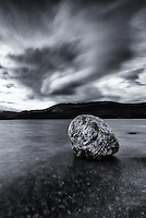 Water and clouds at Fish Lake, Yukon