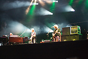 MANCHESTER, TN - JUNE 12: Trey Anastasio, Mike Gordon and Page McConnell of Phish performs at the 2009 Bonnaroo Music and Arts Festival on June 12, 2009 in Manchester, Tennessee. Photo by Bryan Rinnert/3Sight Photography