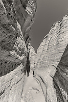 The slit canyon at Kasha-Katuwe Tent Rocks National Monument in New Mexico