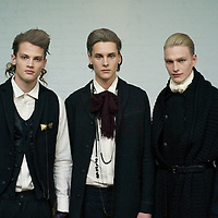 New York fashion week. Robert Geller runway show. German-born Geller won the GQ and FCDA Best New Menswear Designers Award contest. Runway at Focus.