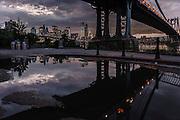 Sunset in DUMBO, Brooklyn