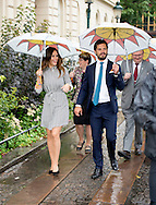 27-8-2015  SWEDEN Kristinehamn - Prince Carl Philip and Princess Sofia visit  Boat trip to the Picasso Udden, Kristinehamn The Royal couple will be received with a salute from the ship Christine af Bro at Café Pearl. The couple are treated to a short guided tour around Picasso cape with elements of the history of Kristinehamn from trading town today. The Royal couple then invited on a guided tour of the Picasso exhibition Uddens port. during day 2 . Two day visit of Prince Carl Philip and Princess Sofia's official visit to Värmland . COPYRIGHT ROBIN UTRECHT