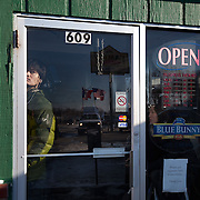 A foreign tv crew awaits the arrival of Former Gov. Mitt Romney (R-MA)  at the Family Table Restaurant Sunday, January 1, 2012, in Atlantic, IA...Photo by Khue Bui