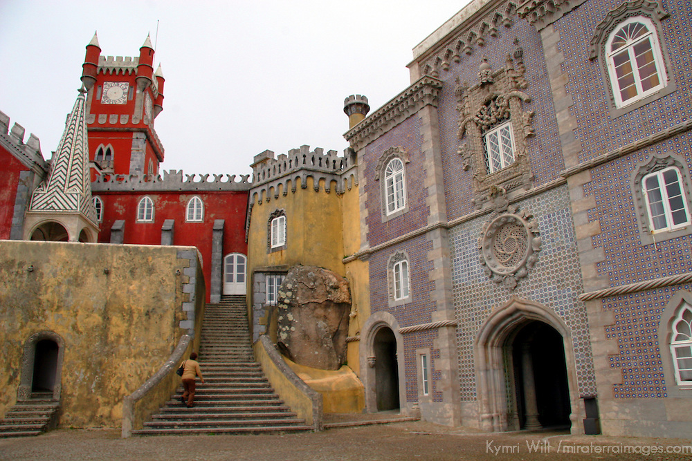 Europe, Portugal, Sintra. Pena National Palace.