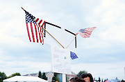 A family of Sarah Palin supporters in Anchorage, Alaska. 2009