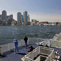 USA, Massachusetts, Boston. Boston Harbor Cruise.