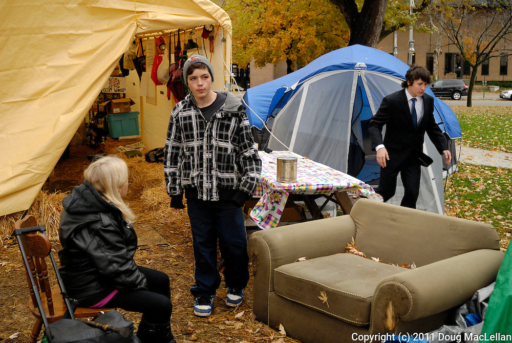 Windsor, Ontario. November 2011. 'Occupy Windsor', Day 26.