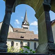 Allerheiligen Monastery's peaceful cloister surrounds an herb garden tended since the Middle Ages. Kloster Allerheiligen (All Saints Abbey) is a former Benedictine monastery in Schaffhausen, Switzerland, Europe. Completed in Romanesque style in 1103 (the oldest building in Schaffhausen), Münster Allerheiligen cathedral includes the Museum zu Allerheiligen.