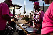 MILWAUKEE, WI - NOVEMBER 17: Rykeem Williams, right, plays drums with Nei Phi Neph mentoring leader Tony Hibbler, left, on Thursday, November 17, 2016. Nei Phi Neph is a mentorship program in the Milwaukee area focused on youth educational, social, and emotional development.