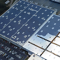 First phase is complete, second phase in progress,  of eventual 5+ megawatt SunEnergy1-installed million square feet rooftop solar array atop Shoe Show Corporate headquarters in Kannapolis, NC