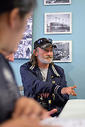 "Windsor, Canada, 2014. Vaughn, street name ""Gramp pa"" attends the inital meeting of panhandlers and community activists in  response to a pejorative column in the local daily newspaper calling panhandlers ""pests"" and ""vermin""."