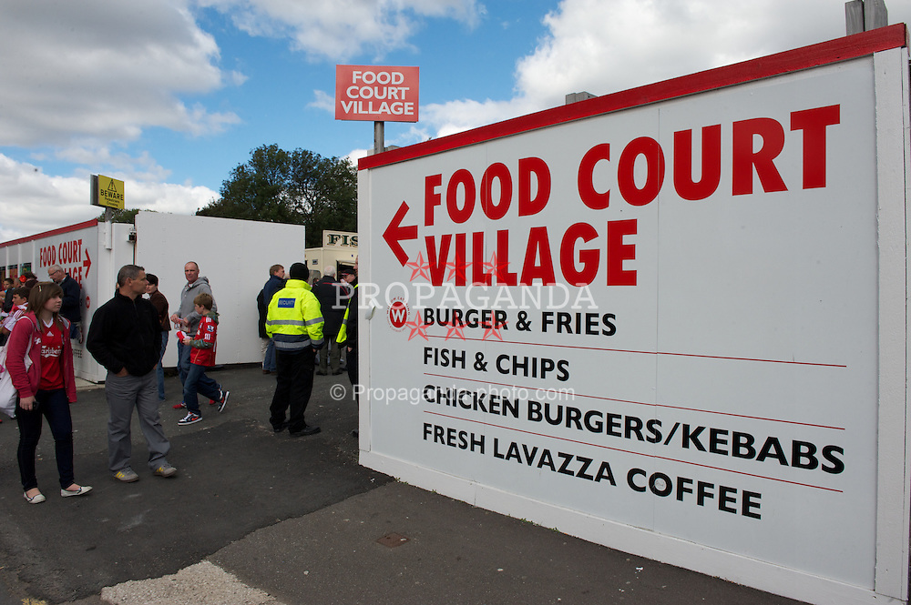 LIVERPOOL, ENGLAND - Saturday, September 25, 2010: The food village outside Anfield. (Photo by David Rawcliffe/Propaganda)