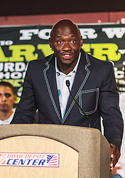 CARSON - MAY 31: Former light heavyweight kingpin and SHOWTIME ringside boxing analyst Antonio 'Magic Man' Tarver at Home Depot Center Press Conference. All fees must be ageed prior to publication,.Byline and/or web usage link must read PHOTO Eduardo E. Silva/SILVEX.PHOTOSHELTER.COM Failure to byline correctly will incur double the agreed fee.