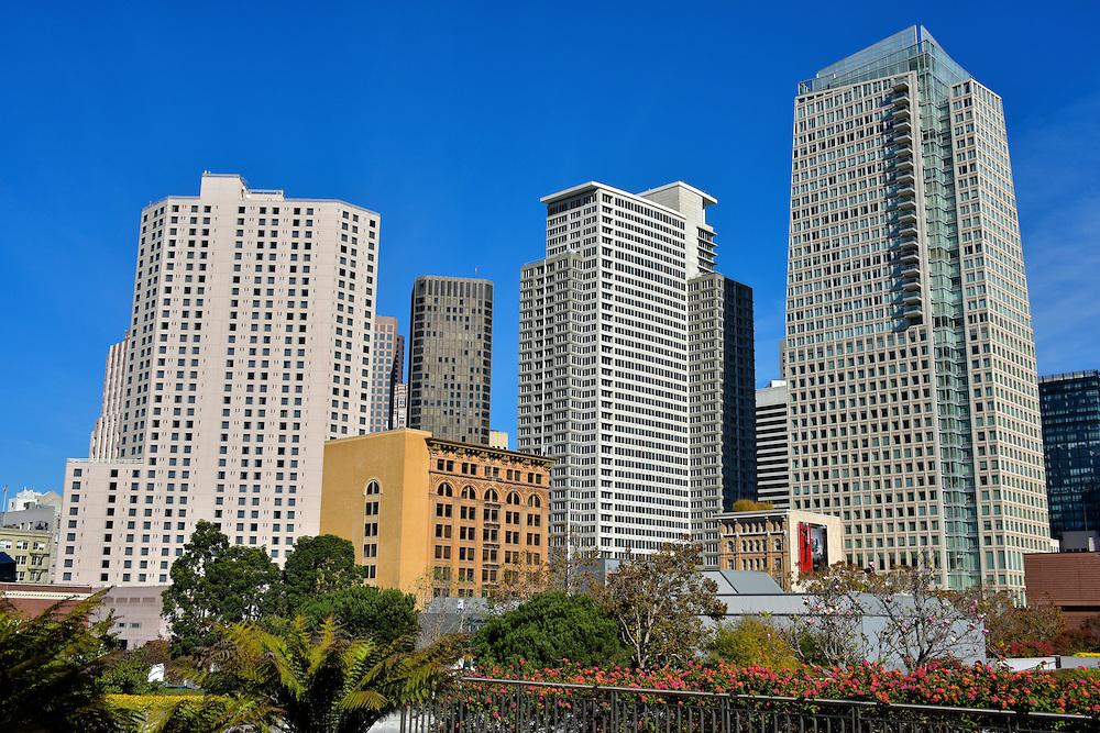 Skyline From Yerba Buena Gardens In San Francisco California Encircle Photos