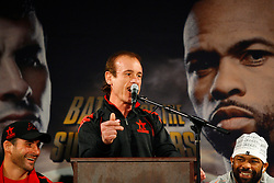 Nov 5, 2008; New York, NY, USA;  Enzo Calzaghe speaks at the final press conference for the November 8, 2008 Light Heavyweight Championship fight between Joe Calzaghe and Roy Jones Jr. The two fighters will meet at Madison Square Garden in NY, NY.