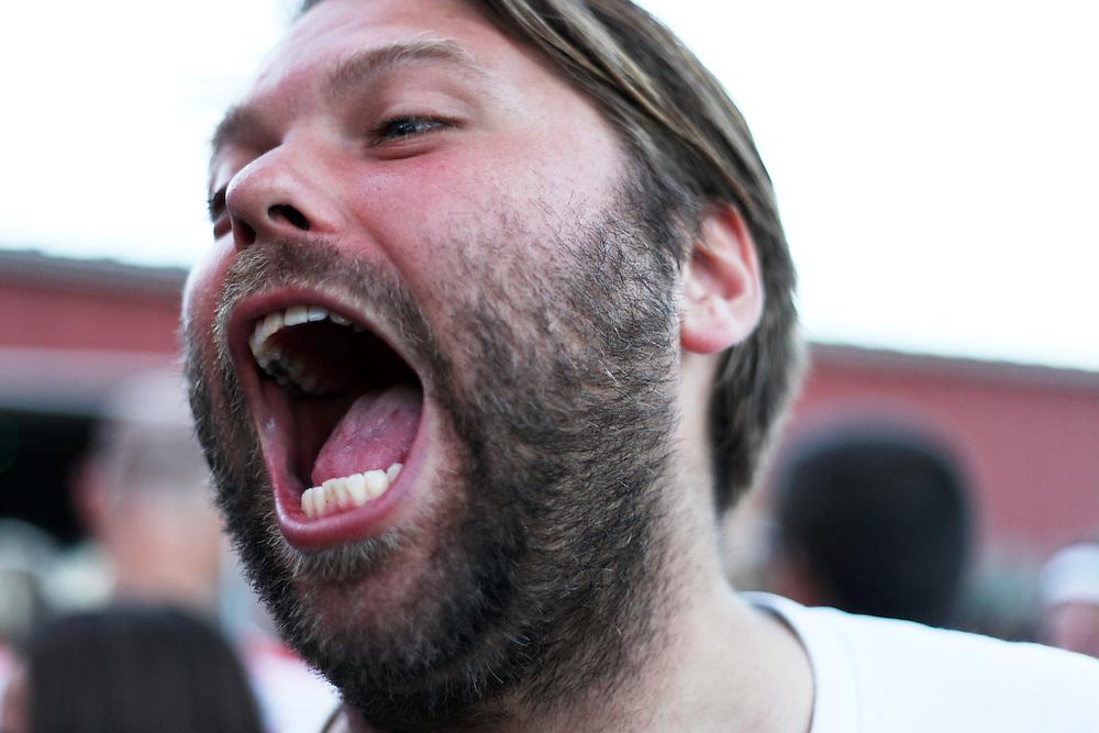 Ben Hubbird of Dirty Mittens at Pickathon on Aug. 6, 2011.