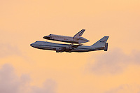 Jun 2, 2009; Titusville, FL USA; NASA 911 ferries the Space Shuttle Atlantis on its return to the Kennedy Space Center.
