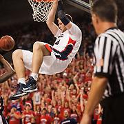 Freshman center Przemek Karnowski dunks vs. Southern Utah<br /> <br /> Photo by Rajah Bose