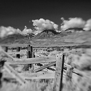 Eastern Sierras View - North Owens Valley - Lensbaby - Infrared Black & White