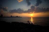 sunset in havana, cuba 2008