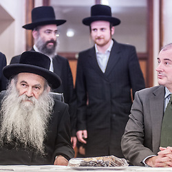 London, UK - 3 December 2014: Mr Stephen Williams MP, Parliamentary Under Secretary of State for Communities and Local Government, visits Talmud-Torah Yetev-Lev orthodox Jewish school in Hackney, London
