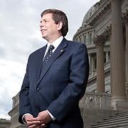 Senator Mark Begich, a Democrat from Alaska, poses for a portrait at the U.S. Capitol in Washington, DC, September 30, 2009.