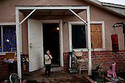 Five-year-old Israel Javier de la Torre at his home in the Parklawn neighborhood of Modesto, Calif., March 1, 2012.