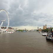 London Eye and Thames - London, UK