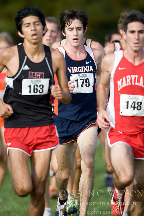 Virginia Cavaliers Taylor Smith (179)..The Atlantic Coast Conference Cross Country Championships were held at Panorama Farms near Charlottesville, VA on October 27, 2007.  The men raced an 8 kilometer course while the women raced a 6k course.