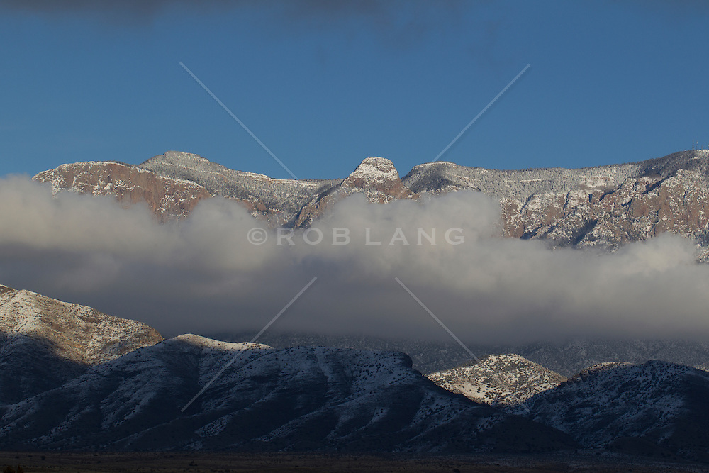 Sandia Mountains Snow Sandia Mountain Range in