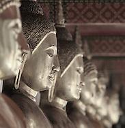 Row of Buddhas, Wat Pho, Old City, Bangkok, Thailand, limited edition print