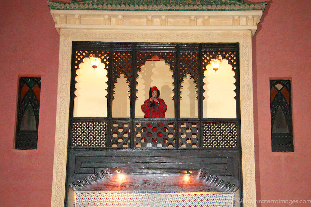 North Africa, Africa, Morocco, Marrakesh. Scene from the Chez Ali Fantasia show for tourists.