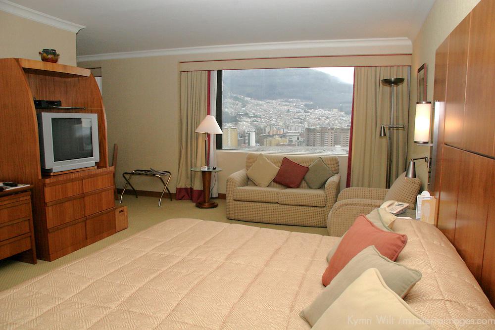 South America, Ecuador, Quito. Swissotel Suite in Quito