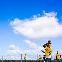 BRADENTON, FL -- Edmonton Eskimos players work out during a mini-camp at MIG Academy in Bradenton, Florida, on Wednesday, April 23, 2014.  (PHOTO / CHIP LITHERLAND)