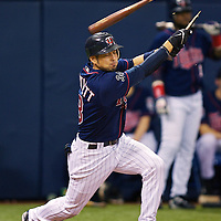 during the 2nd ALDS playoff game against the Minnesota Twins at the Metrodome in Minneapolis, Minnesota on Wednesday, October 4, 2006. (MLB Photo/Adam M. Bettcher)
