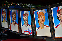 COOPERSTOWN, NY - JULY 25: Street art of Randy Johnson on display down Main Street on July 25, 2015 in Cooperstown, NY. (Photo by Jennifer Stewart/Arizona Diamondbacks/Getty Images)